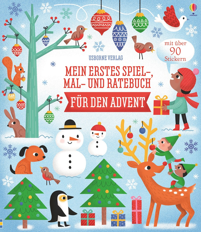 Cover vom Buch 'Spiel-, Mal- und Ratebuch für den Advent'