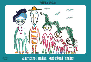 Cover vom Buch 'Gummiband-Familien: Finde den Unterschied'