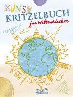 Cover vom Buch'Kunstkritzelbuch für Weltentdecker'