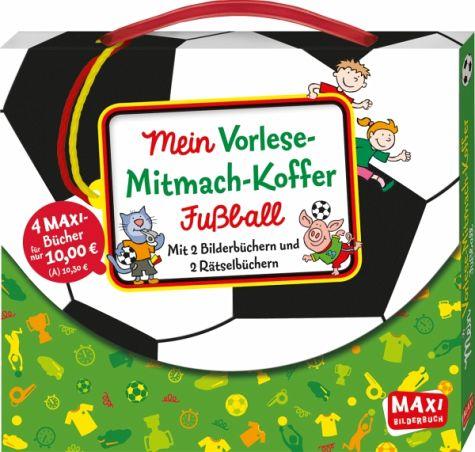 Cover vom Buch 'Mein Vorlese-Mitmach-Koffer Fußball: WM-Rätsel'