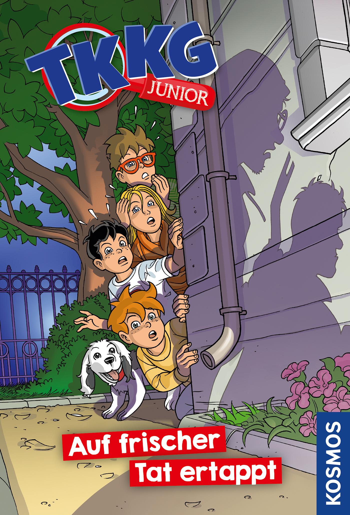Cover Auf frischer Tat ertappt Reihe TKKG Junior Bd. 1