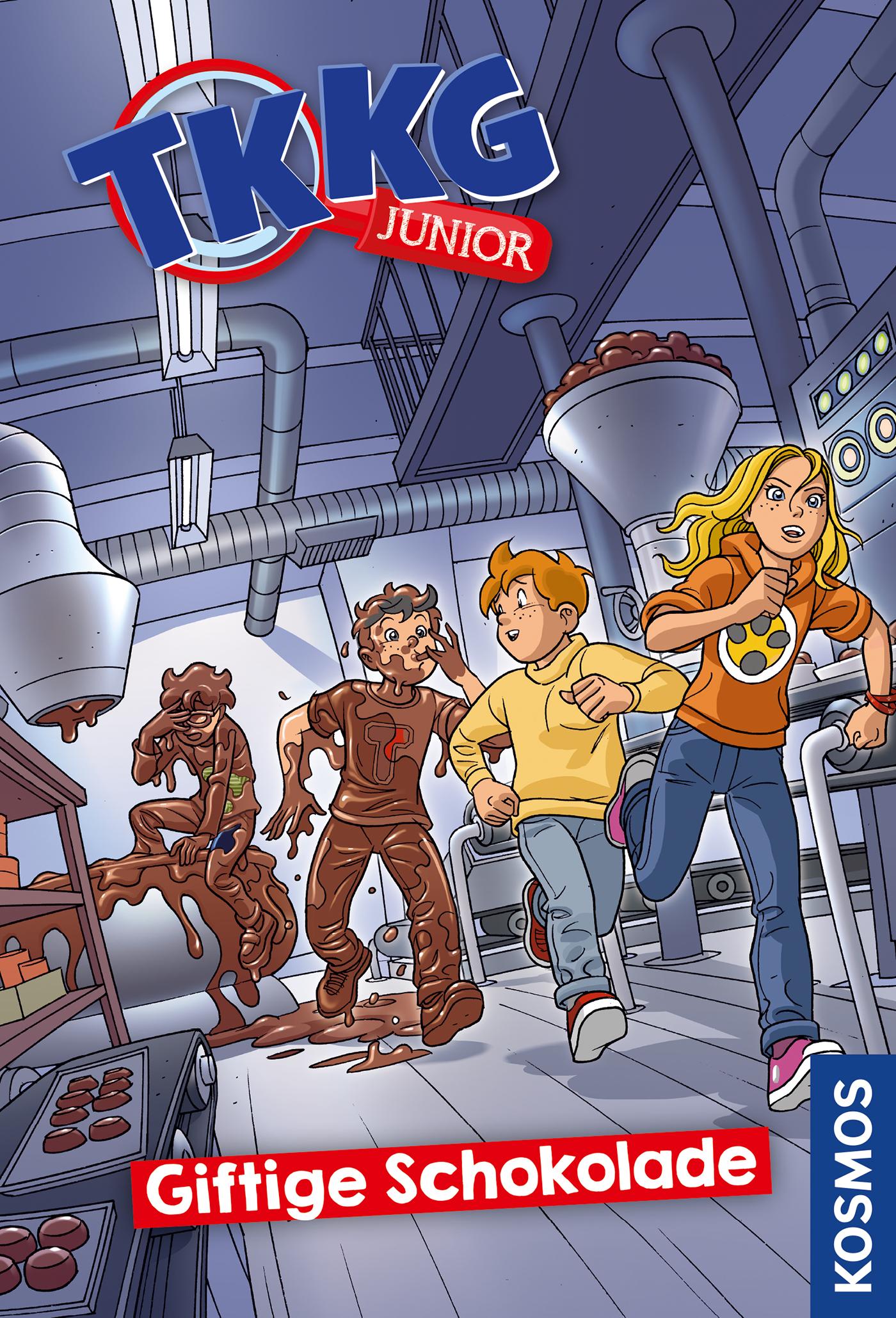 Cover Giftige Schokolade Reihe TKKG Junior Bd. 3