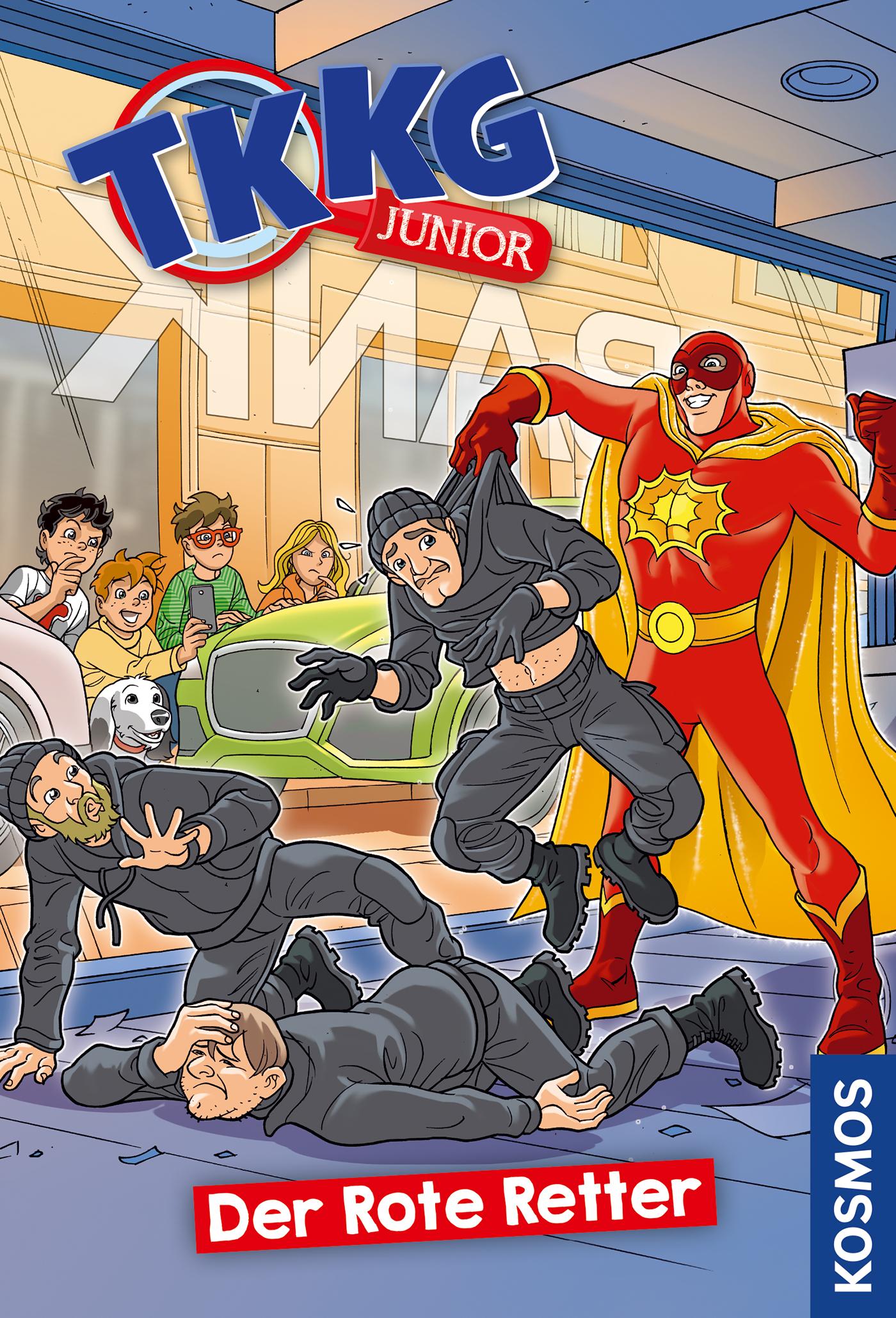 Cover Der Rote Retter Reihe TKKG Junior Bd. 4