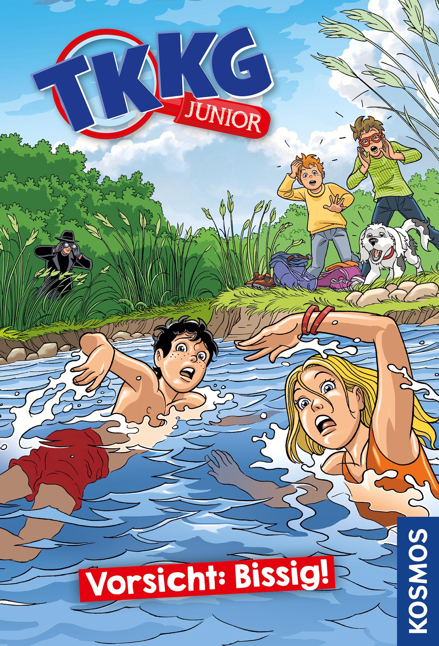 Cover Vorsicht: Bissig! Reihe TKKG Junior Bd. 2