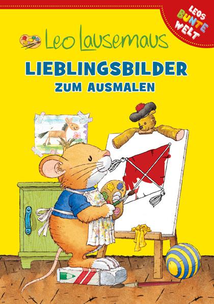 Cover Leo Lausemaus - Lieblingsbilder zum Ausmalen