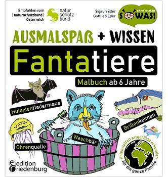 Cover Ausmalspaß + Wissen: Fantatiere