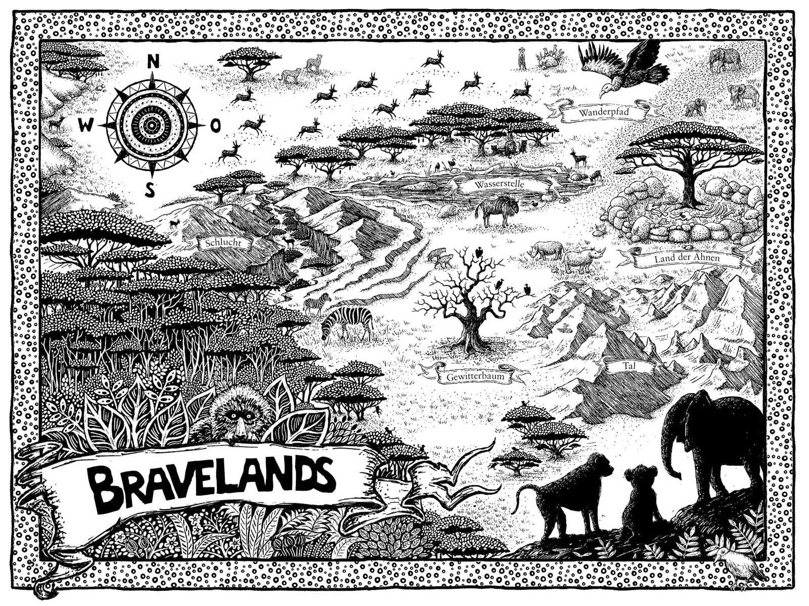 Die Bravelands - Karte