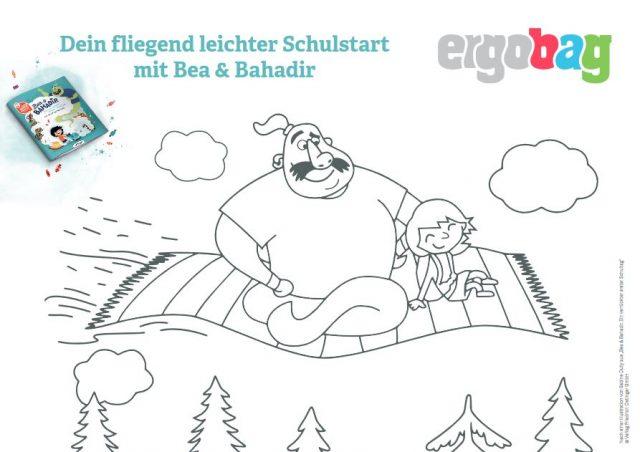 ergobag Ausmalbild Bea und Bahadir