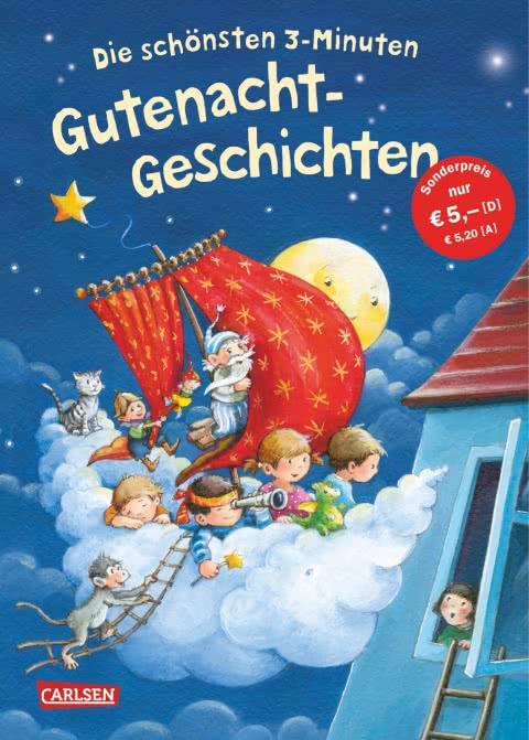 Cover Die schönsten 3 Minuten Gutenacht-Geschichten