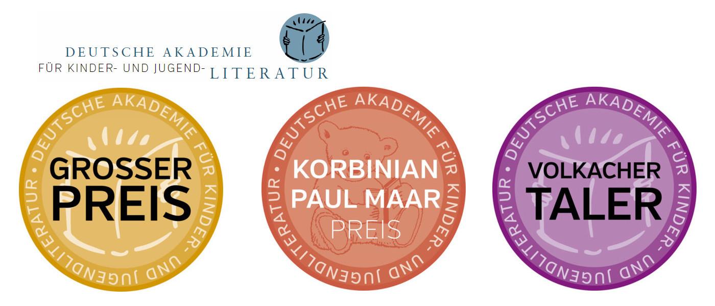 Deutsche Akademie für Kinder- und Jugendliteratur: drei Preise