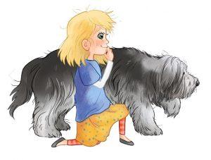 Emi und ihr Hund