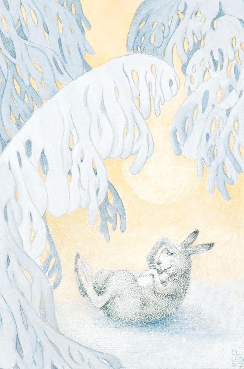 """Schneehase aus dem Buch """"Von Fuchs, Wolf und Bär"""""""