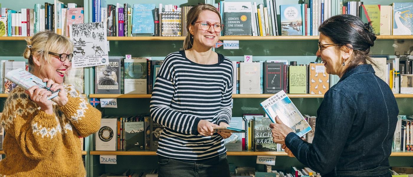 Das Team der Buchhandlung Pankebuch