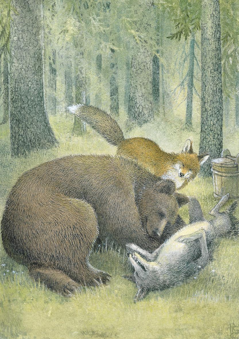 """Bild aus """"Von Fuchs, Wolf und Bär"""" von Pirkko-Liisa Surojegin"""
