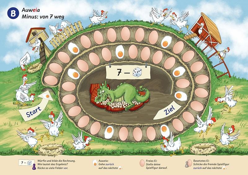 Das Hühnerspiel aus: Ruckzuck Mathespiele