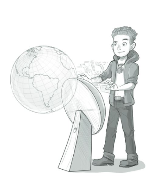 Illustration: Rick Nautilus am Steuerrad